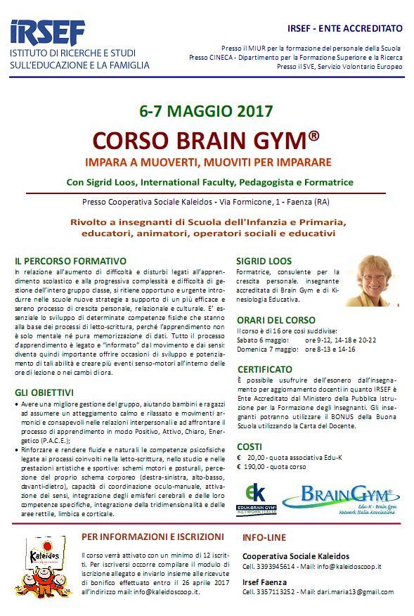 Corso BrainGym - Sigrid Loos